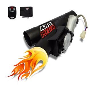 Difusor Escape Eletrônico 2 Polegadas Ronco Esportivo e Original Com Controle Remoto Universal Preto
