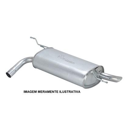 escapamento silencioso traseiro corsa hatch / sedan 1.0 / 1.4 gasolina / flex - 2002/2006