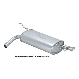 escapamento silencioso traseiro corsa hatch / sedan 1.0 / 1.4 gasolina / flex - 2007/2012