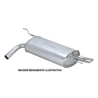 escapamento silencioso traseiro meriva 1.4 8v flex power - 2009/2012