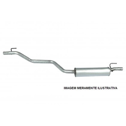 escapamento tubo intermediário com abafador 16v clio hatch / sedan 1.0 8v / 16v - 99/2012