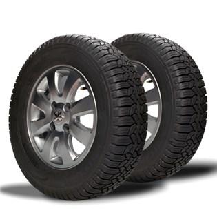 kit 2 pneu aro 14 remold 175/80r14 strong