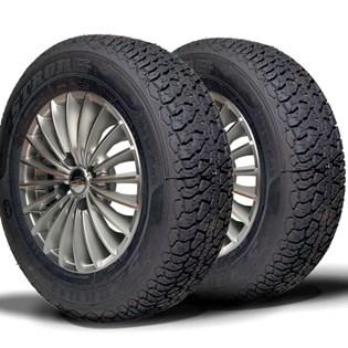 kit 2 pneu aro 14 remold 185 r14 carga 8 lonas strong