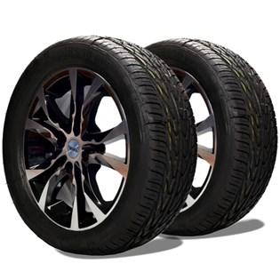 kit 2 pneu aro 15 remold 195/50r15 am plus