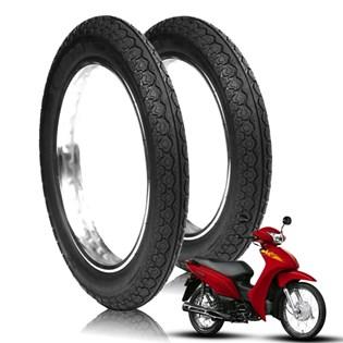 kit 2 pneu honda biz 150 mandrake 80/100-14 tras robust + 60/100-17 diant novo original