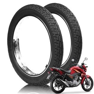 kit 2 pneu honda cg 150 mt 90/90-18 tras robust + 2.75-18 diant novo original