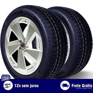kit 2 pneu remold 185/60r14 ck504 cockstone (desenho goodyear)