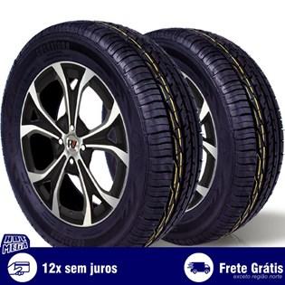 kit 2 pneu remold 195/60r15 ck603 cockstone (desenho goodyear)