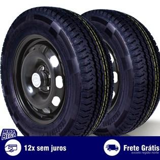 kit 2 pneu remold 205/70r15 carga 8L cockstone (desenho pirelli)