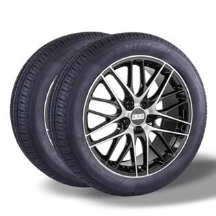 Kit 2 pneu remold aro 14 175/65r14 HOT MEGA desenho pirelli