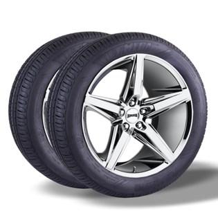 Kit 2 pneu remold aro 14 185/65r14 HOT MEGA desenho pirelli