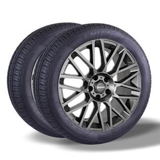 Kit 2 pneu remold aro 14 185/70r14 HOT MEGA desenho pirelli