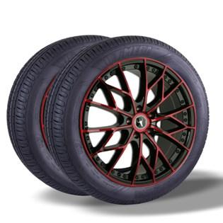 Kit 2 pneu remold aro 15 185/65r15 HOT MEGA desenho pirelli