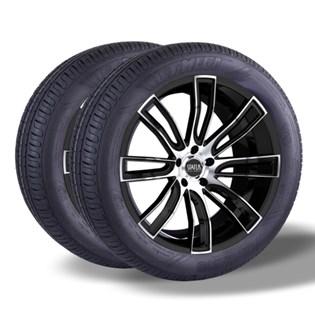 Kit 2 pneu remold aro 15 195/60r15 HOT MEGA desenho pirelli