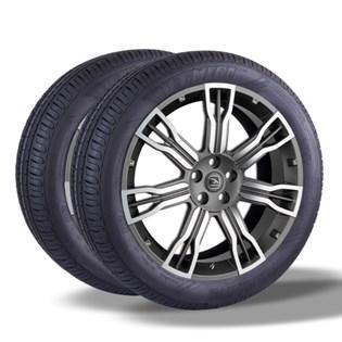kit 2 pneu remold aro 16 205/55r16 HOT MEGA desenho pirelli