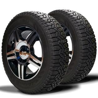 kit 2 pneu remoldado aro 13 185/70r13 strong