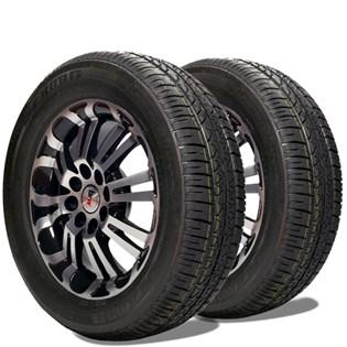 kit 2 pneu remoldado aro 14 175/65r14 strong