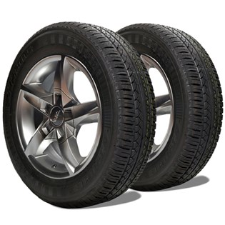 kit 2 pneu remoldado aro 14 175/70r14 strong