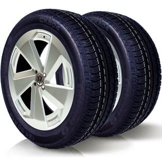 kit 2 pneu remoldado aro 14 185/60r14 ck504 cockstone