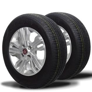 kit 2 pneu remoldado aro 14 185/70r14 strong