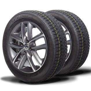 kit 2 pneu remoldado aro 15 185/60r15 strong