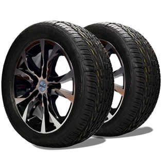 kit 2 pneu remoldado aro 15 195/50r15 proxxis cockstone