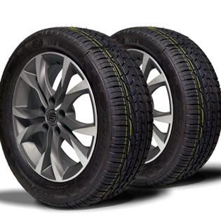 kit 2 pneu remoldado aro 15 195/55r15 strong