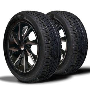 kit 2 pneu remoldado aro 15 195/60r15 strong