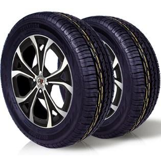 kit 2 pneu remoldado aro 15 205/65r15 ck603 cockstone