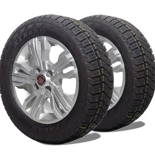 kit 2 pneu remoldado aro 15 205/70r15 atr strong