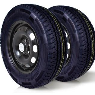 kit 2 pneu remoldado aro 15 205/70r15 carga 8 lonas cockstone