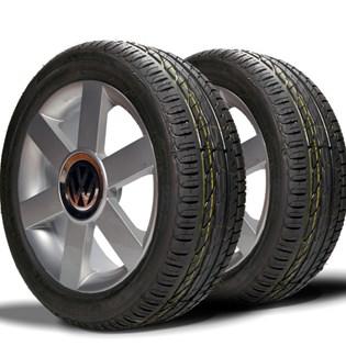 kit 2 pneu remoldado aro 16 205/55r16 strong