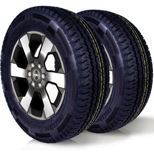 kit 2 pneu remoldado aro 16 205/75r16 carga 8 lonas cockstone