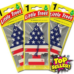 Kit 3 Aromatizante Automotivo Little Trees Original - Vanilla Pride