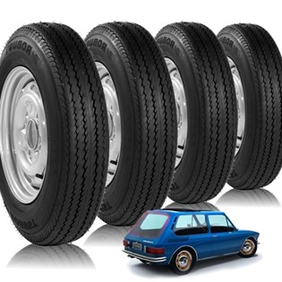 kit 4 pneu aro 14 diagonal novo brasília 5.90r14 robust