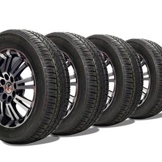 kit 4 pneu aro 14 remold 175/65r14 strong (desenho bridgestone)