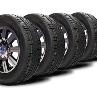 kit 4 pneu aro 14 remold 185/65r14 strong (desenho goodyear)