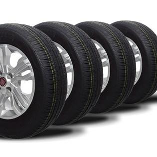 kit 4 pneu aro 14 remold 185/70r14 strong (desenho continental)