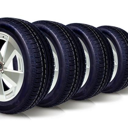kit 4 pneu aro 15 195/55r15 wemic forlli remold 5 anos garantia
