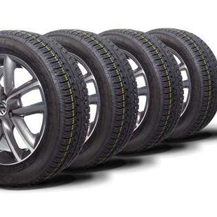 kit 4 pneu aro 15 remold 185/60r15 strong (desenho goodyear)