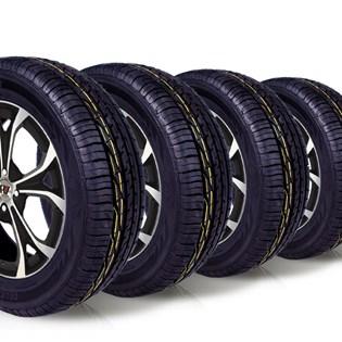 kit 4 pneu aro 15 remold 195/60r15 ck603 cockstone