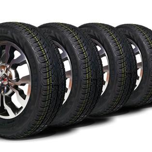 kit 4 pneu aro 15 remold 195/65r15 strong (desenho bridgestone)