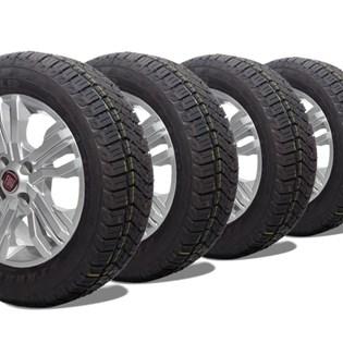 kit 4 pneu aro 15 remold 205/60r15 atr strong