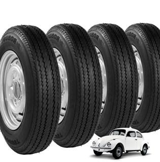 kit 4 pneu aro 15 tornado fusca novo 5-60r15  robust