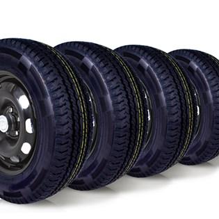 kit 4 pneu aro 16 205/75r16 carga 8 lonas roda bem remold 5 anos garantia