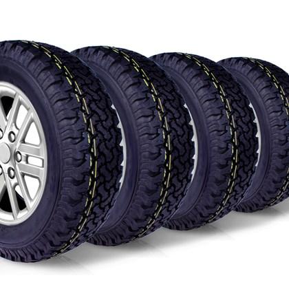 kit 4 pneu aro 16 235/70r16 BF roda bem remold 5 anos garantia