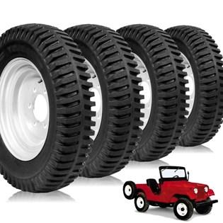 kit 4 pneu aro 16 militar novo jeep 6.50r16 robust