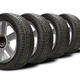 kit 4 pneu aro 16 remold 205/55r16 strong