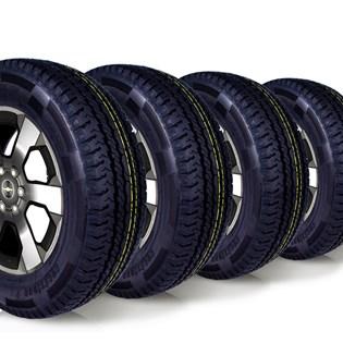 kit 4 pneu aro 16 remold 225/65r16 carga 8 lonas cockstone
