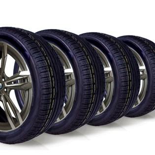 kit 4 pneu aro 17 225/50r17 roda bem remold 5 anos garantia